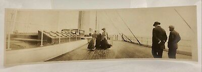 Antique c1900 Victorian Women Gilded Age Yacht Travel Boat Panorama Photos