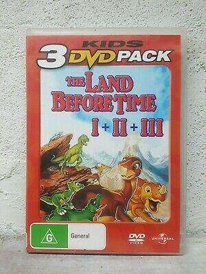 THE LAND BEFORE TIME 1 2 & 3 Trilogy (DVD ) KIDS DINOSAUR MOVIES ANIMATION