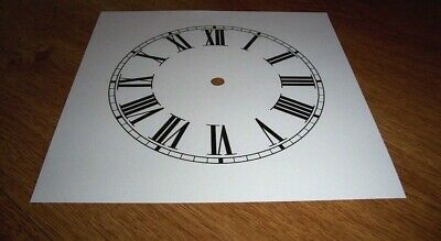 "Ogee Paper Clock Dial- 7 1/2"" M/T - Roman -MATT WHITE -Face/Clock Parts/Spares #"