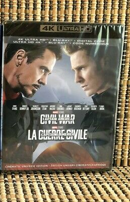 Captain America 3: Civil War 4K(2-Disc Blu-ray, 2019)Marvel Avenger