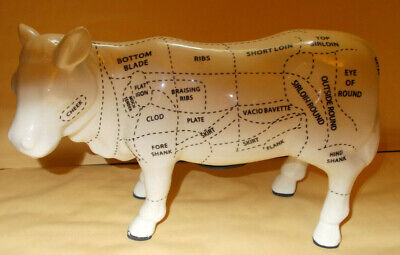 Cow Pottery Ornament With Meat Cuts Also A Money Box