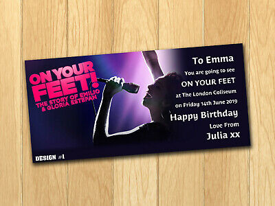Get On your Feet Gloria Estefan Gift Card Voucher Present Birthday Ticket