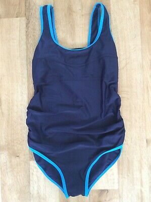 Maternity Blooming Marvellous Swimming Costume Swim Suit Navy Blue Size 18 New