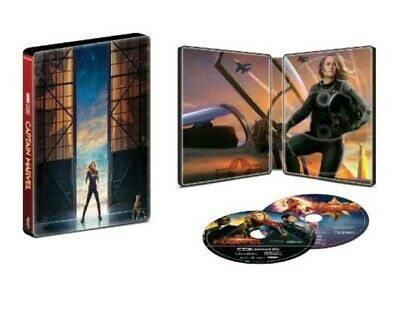 Captain Marvel Limited Edition SteelBook 4K Ultra HD Blu-ray Combo **PRE-ORDER**