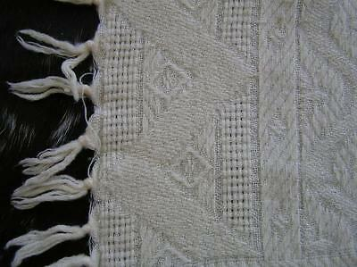 """Early 1940's Adorable Handknit Baby Afghan Baby Blanket 48"""" x 44"""" very good"""