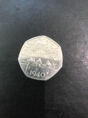 BATTLE OF BRITAIN  1940... 50p coin.. RARE FIFTY PENCE