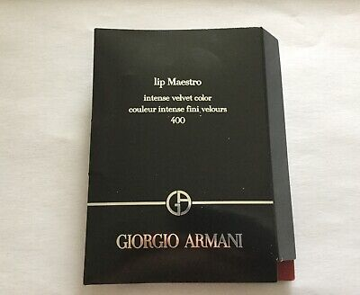 GIORGIO ARMANI Lip Maestro intense Velvet Color 400  Sample / Travel Size 1.5