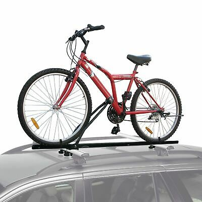 Universal Car Roof Bar Mounted Bicycle Carrier Upright Bike Rack Cycle Locking