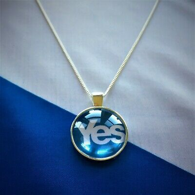 Silver Plated Yes Scotland Independence Necklace, 18 Inch - Made in Scotland