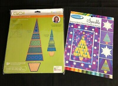 NEW Sarah Vedler AccuQuilt Sparkle Slim Tree  Die and Sparkle Design CD