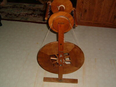 Awesome Vintage ASHFORD Spinning Wheel w Jumbo Flyer Nice Working Condition
