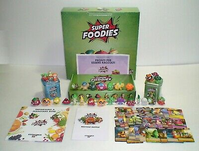 Serie Completa 24 Super Foodies 3D 34 Carte Card Collector Tin Box Set Esselunga