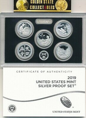 2019 S 5 Coin .999 Silver Quarter Set From Us Mint Silver Proof Set With Coa