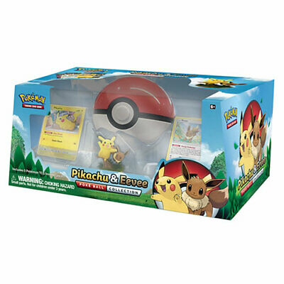 NEW Pokemon PIKACHU EEVEE figures cards POKEBALL COLLECTION BOX foil promo boost