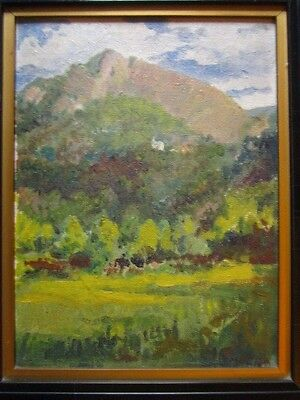 "Fine Impressionist painting of a Mountainous landscape signed ""Mucha"" Alphonse?"