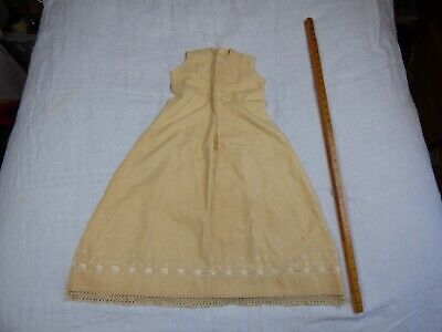 Antique/Vintage Cotton Flannel Baby Gown with Hand Embroidery