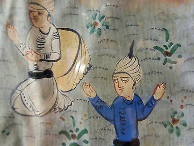 Antique Late 19Th-Early 20Th Century Persian Miniature Landscape W/C Painting