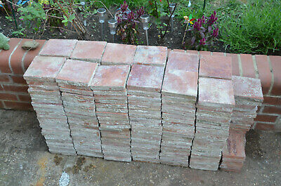 "Approx 260 Reclaimed Vintage Victorian Red Floor Tiles 155mm x 155mm (6"" x 6"")"