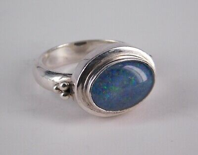 Vintage SUARTI Ring mit Opal, 925 Silber, RG 56,5 (S 2818)