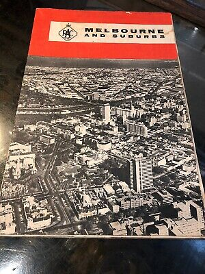 VINTAGE collectable 1960s Melbourne CBD suburbs RACV Street road map