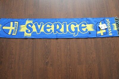 SVERIGE Sweden Scarf Fanschall Encharpe Football