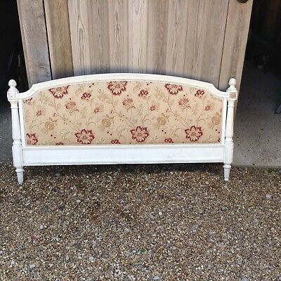 Vintage French Wooden Double Bed Base/headboard