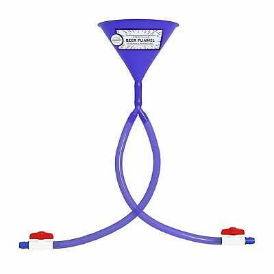 Beer Bong Double Header Funnel W/Valve Hose Tube Long 2 Ft College Party