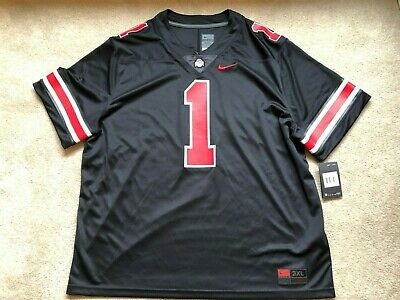 8280aae90bf Nike NEW Ohio State Buckeyes #1 NCAA Jersey Vapor Stitched MEN $135 Black  3XL