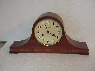 Vintage Seth Thomas Lynton 2 W 8 Day Tambour Clock Ticking A