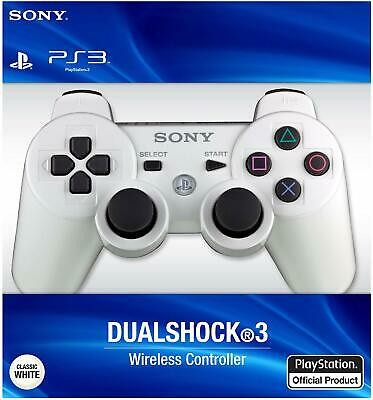 Official Sony PlayStation 3 Wireless DualShock 3 Controller - White PS3 Genuine