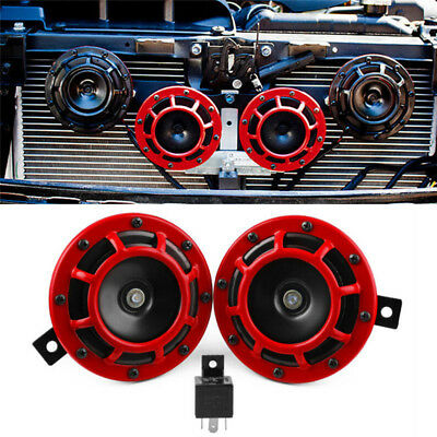 2pc Compact Electric Loud Blast 12V Grille Mount For Super Tone Hella Horn J!