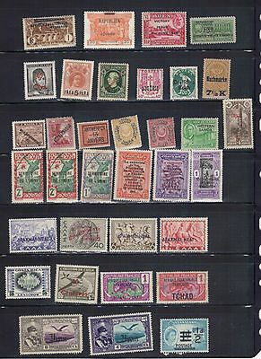 LJL Stamps: 34 WorldWide OVERPRINT Old Stamps, Mint/Hinged