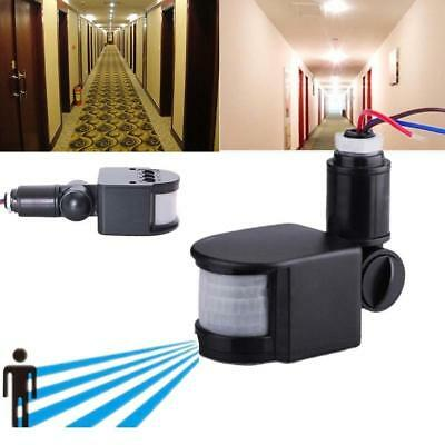 Black Security PIR Infrared Motion Sensor Detector For Outdoor Wall Light Lamp