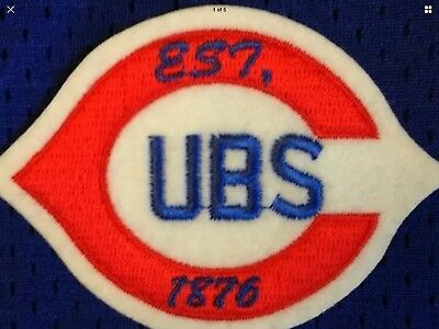HISTORIC THROWBACK EST 1876 Chicago CUBS, Team Patch,WRIGLEY FIELD