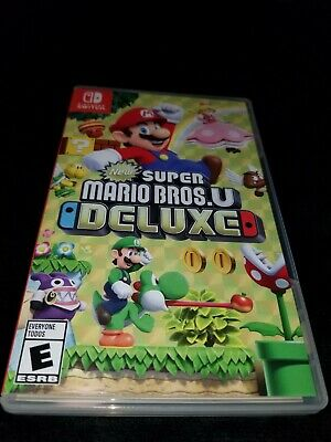 New Super Mario Bros. U Deluxe Complete With Box! - (Nintendo Switch, 2019)