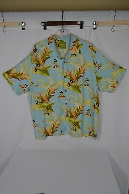 5088e320 TOMMY BAHAMA DISNEY PARKS COLLECTION Mickey Mouse Paddle Hawaiian Shirt Silk  XL