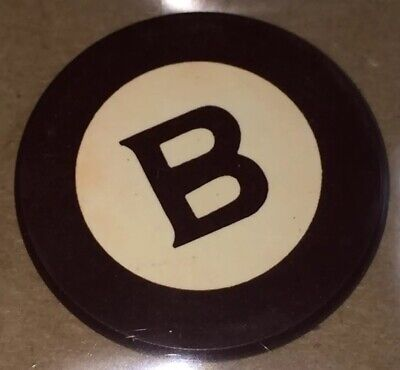 Vintage Antique Brown Initial Letter B Clay Poker Chip