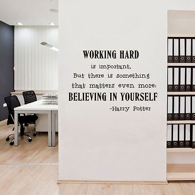 Believe in yourself Wall Art Sticker Office Harry Potter Quotes Decals  Decor