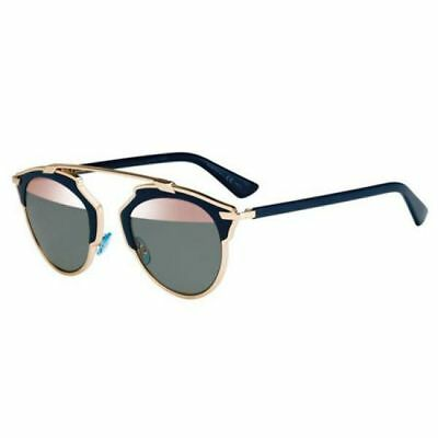 7b1db9a557 Christian Dior So Real Rose Gold   Blue Mirror Lens Sunglasses U5W