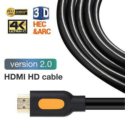 2160p 1080p HDMI Cable 3D Ultra HD 4K High Speed with Ethernet HEC ARC V1.4