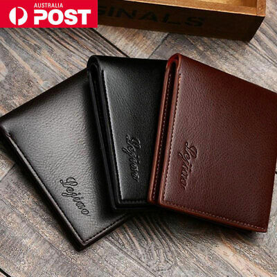 Mens Money Cash Wallet Credit ID Card Holder Leather Protector RFID Case Purse