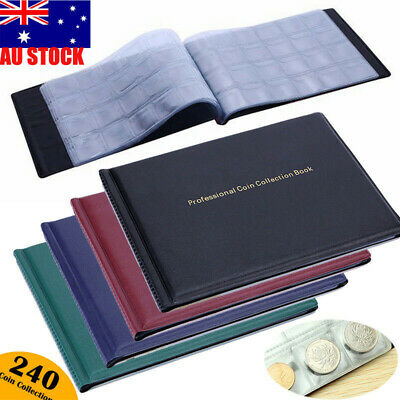 240 Slots Coin Album Money Penny Collecting Holder Pockets Storage Folder Book