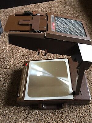 VTG 3M Portable Briefcase Style Overhead Projector Model 6200AGB Works Great!
