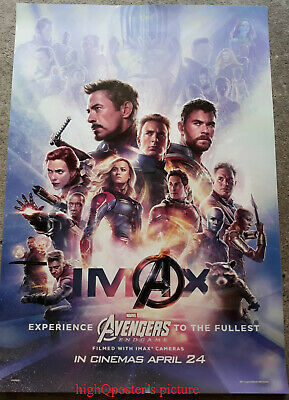 ORIGINAL Avengers ENDGAME movie INTL 1sheet DS POSTER double 2 sided IMAX rare