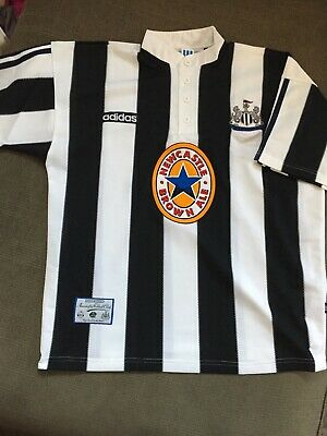 Newcastle United 19951996 Adidas Home Football Shirt Jersey Brown Ale. Brand New