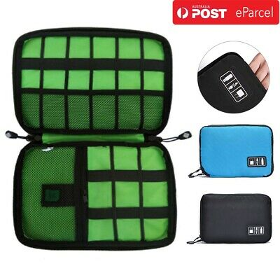 Electronic Accessories Storage USB Cable Organizers Bag Case Drive Travel Insert