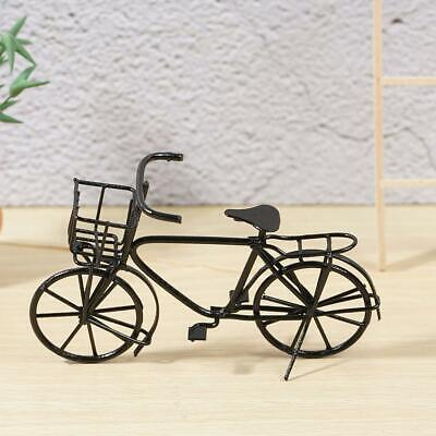 Dolls House Miniature-Black Metal Bicycle-Bike Garden home Decor 1:12 Scale New