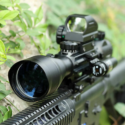 4-12X50 EG R&G Hunting Rifle Scope W/ Holographic Dot Sight +Red Laser Sight