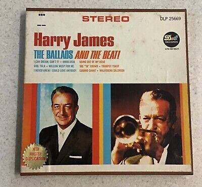 Vintage 1960s Harry James The Ballads And The Beat Jazz Pop Reel To Reel Tape