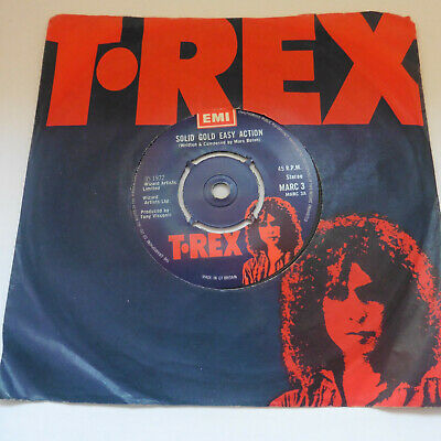 "TRex Marc Bolan Solid Gold Easy Action Baby Marc 3 1972 UK 7"" 45 Excellent"